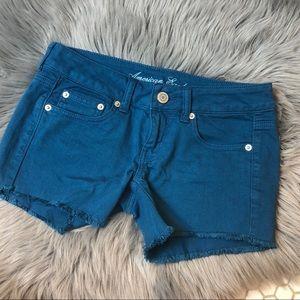 American Eagle Colored Stretch Denim Shorts